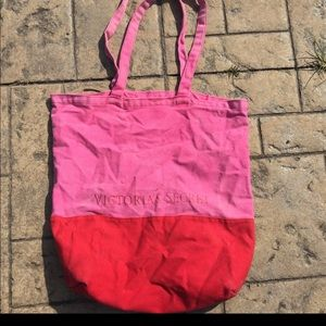 Victoria secret embed block tote bag used
